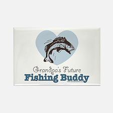 Grandpa's Future Fishing Buddy Fisherman Rectangle