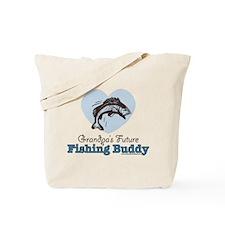 Grandpa's Future Fishing Buddy Fisherman Tote Bag