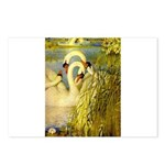 SWANS, Vintage art Print Postcards (Package of 8)