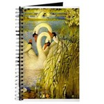 SWANS, Vintage art Print Journal