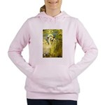 SWANS, Vintage art Print Women's Hooded Sweatshirt