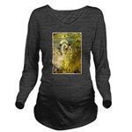 SWANS, Vintage art Print Long Sleeve Maternity T-S