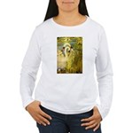 SWANS, Vintage art Print Long Sleeve T-Shirt