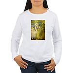 SWANS, Vintage art Print Long Sleeve T-Shirt