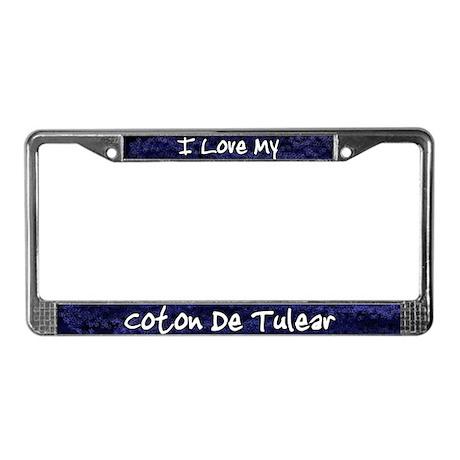 Funky Love Coton De Tulear License Plate Frame