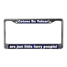Furry People Coton De Tulear License Plate Frame
