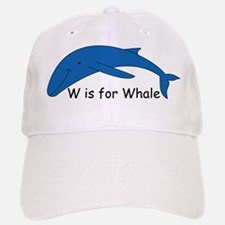 W is for Whale Baseball Baseball Cap