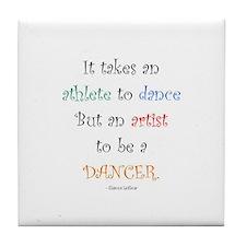 Artist Dance New Tile Coaster