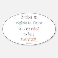 Artist Dance New Oval Decal