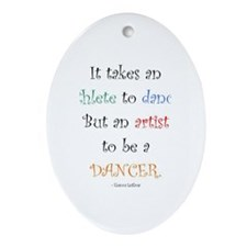 Artist Dance New Oval Ornament