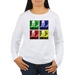Pop Art Shakespeare Women's Long Sleeve T-Shirt