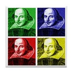 Pop Art Shakespeare Tile Coaster