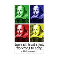 Pop Art Shakespeare Decal