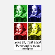 Pop Art Shakespeare Sticker (Rectangle)