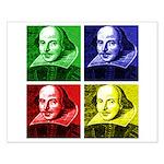 Pop Art Shakespeare Small Poster