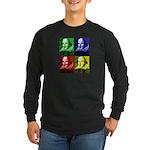 Pop Art Shakespeare Long Sleeve Dark T-Shirt