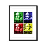Pop Art Shakespeare Framed Panel Print