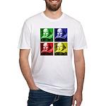 Pop Art Shakespeare Fitted T-Shirt