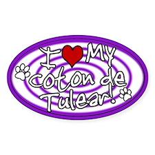 Hypno I Love My Coton De Tulear Sticker Purp