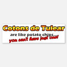 Potato Chips Coton De Tulear Bumper Bumper Bumper Sticker