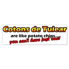 Potato Chips Coton De Tulear Bumper Bumper Sticker