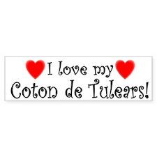 I Love My Coton De Tulears Bumper Bumper Sticker