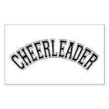 Cheerleader Rectangle Decal