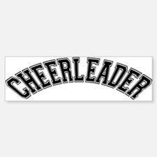 Cheerleader Bumper Car Car Sticker