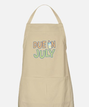 Due In July Green BBQ Apron