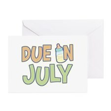 Due In July Green Greeting Cards (Pk of 10)
