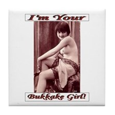 Bukkake Girl Joke Wedding Gift Tile Coaster
