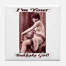 Bukkake Girl Joke Wedding Gift Tile Coaster