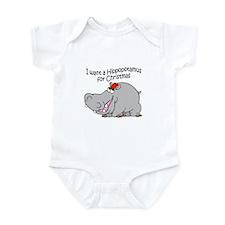 Christmas Hippo BW Infant Bodysuit