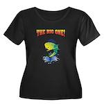 IAATBO! Women's Plus Size Scoop Neck Dark T-Shirt