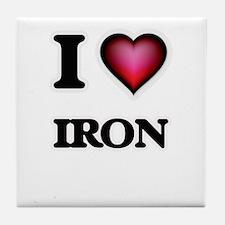 I Love Iron Tile Coaster