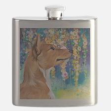 Basenji Painting Flask