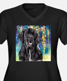 Newfoundland Painting Plus Size T-Shirt