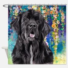 Newfoundland Painting Shower Curtain