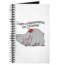 Christmas Hippo BW Journal