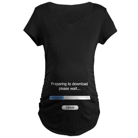 Download your baby in this Maternity Dark T-Shirt