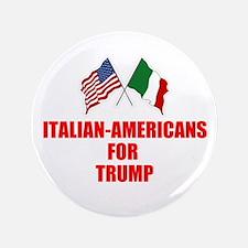 Italian-Americans For Trump Button