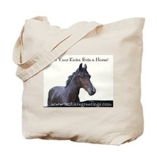 Get Your Kicks Ride a Horse, Horse gift, Tote Bag