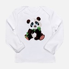 Panda Eating Bamboo Long Sleeve T-Shirt