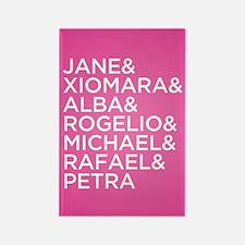 Jane the Virgin Names Rectangle Magnet