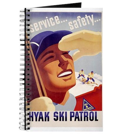 "Journal with vintage ""style"" Hyak Ski Patrol"