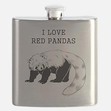 I Love Red Pandas Flask