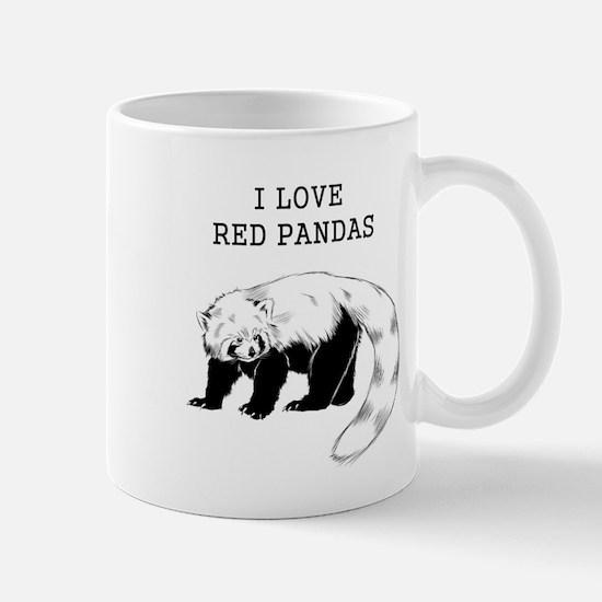I Love Red Pandas Mugs