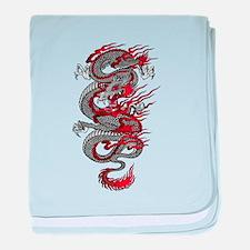 Asian Dragon baby blanket