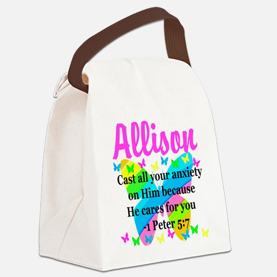 1 PETER 5:7 Canvas Lunch Bag