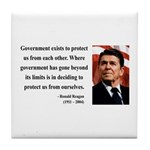 Ronald Reagan 20 Tile Coaster